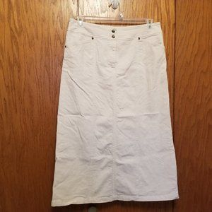 Christopher & Banks Stretch Khaki Skirt Size 12